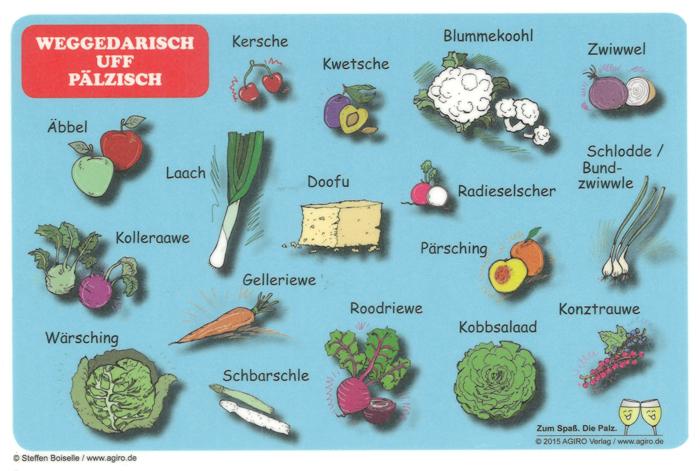 Pfälzisch für Einsteiger: Vegetarische Lebensmittel, Obst und Gemüse