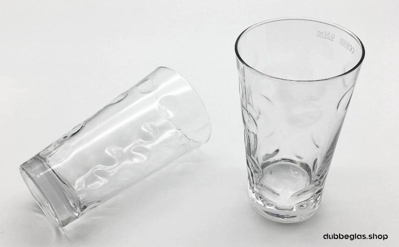2 Dubbegläser 0,5 Liter mit Logofläche bzw. Etiekettenfläche zum gravieren oder bedrucken