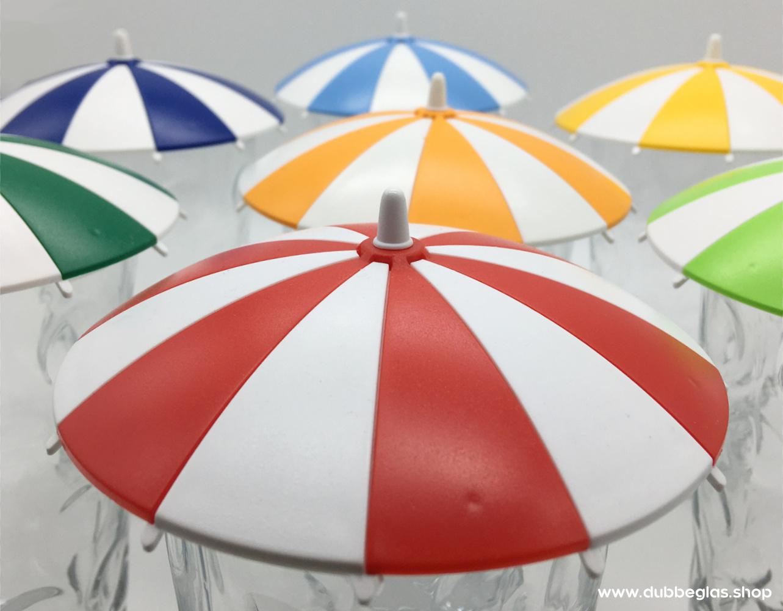 Sonnenschirm Dubbeglas Deckel in verschiedenen Farben