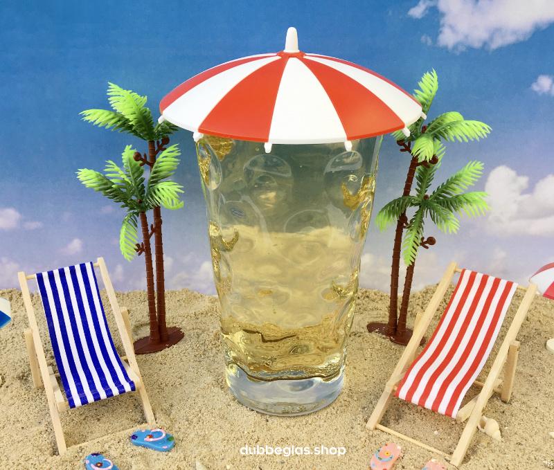 Der Dubbeglas Deckel am Strand