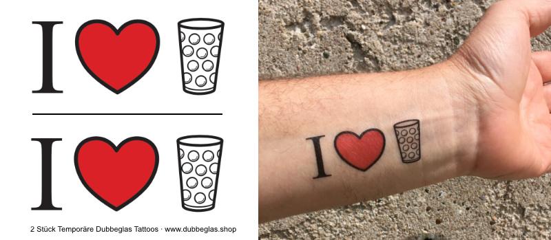 I love Dubbeglas - Tattoo