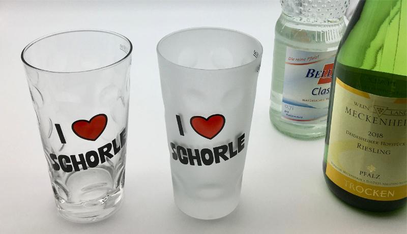 I love Schorle Dubbegläser