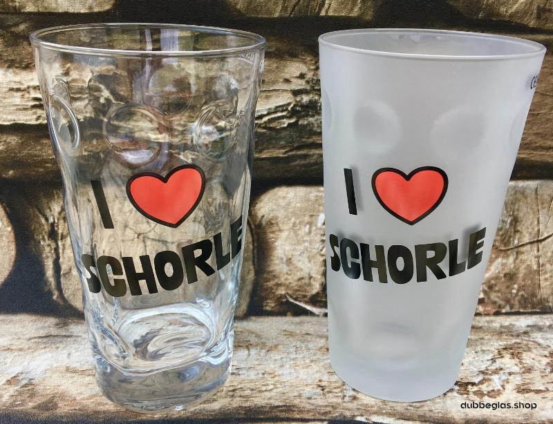 I love Schorle Dubbeglas 0,5 Liter