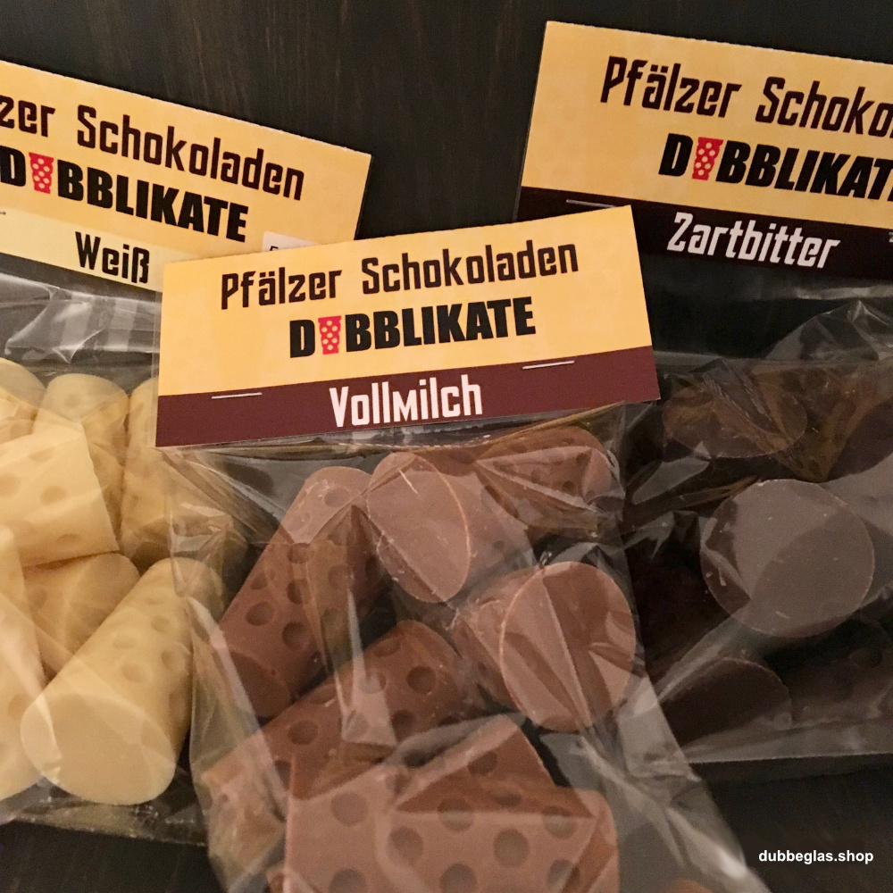 Pfälzer Dubbeglas Schokolade - Dubblikate