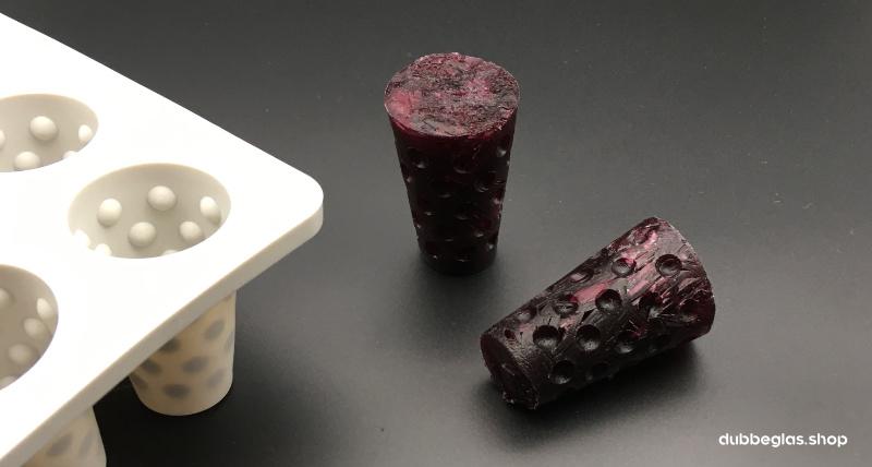 Rotwein Dubbeglas Eiswürfel