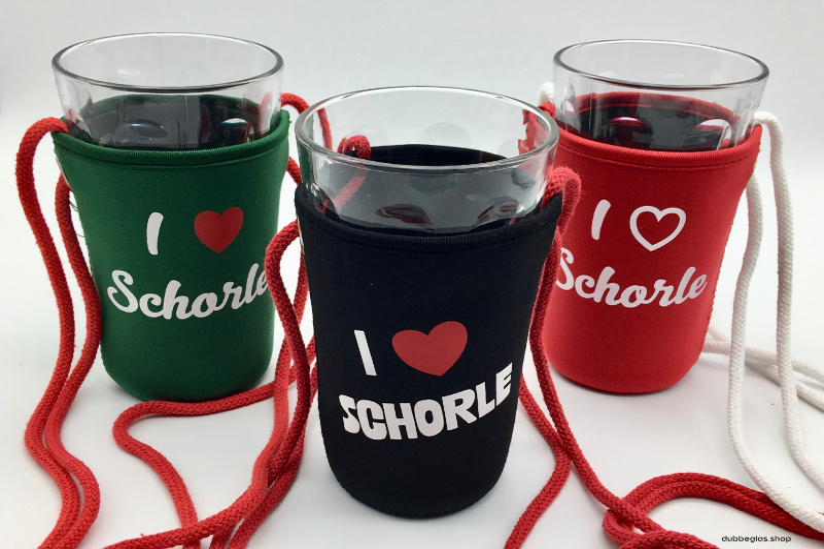 I love Schorle Dubbeglashalter