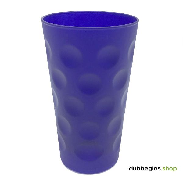 Blau matt farbiges Dubbeglas 0,5 l ganz gefärbt