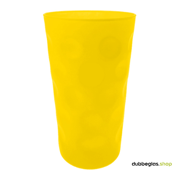Gelb matt farbiges Dubbeglas 0,5 l ganz gefärbt