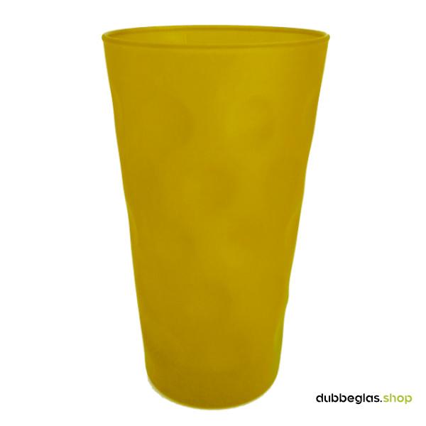 Gold matt farbiges Dubbeglas 0,5 l ganz gefärbt