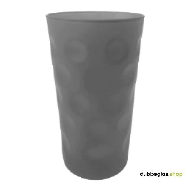 Grau matt farbiges Dubbeglas 0,5 l ganz gefärbt