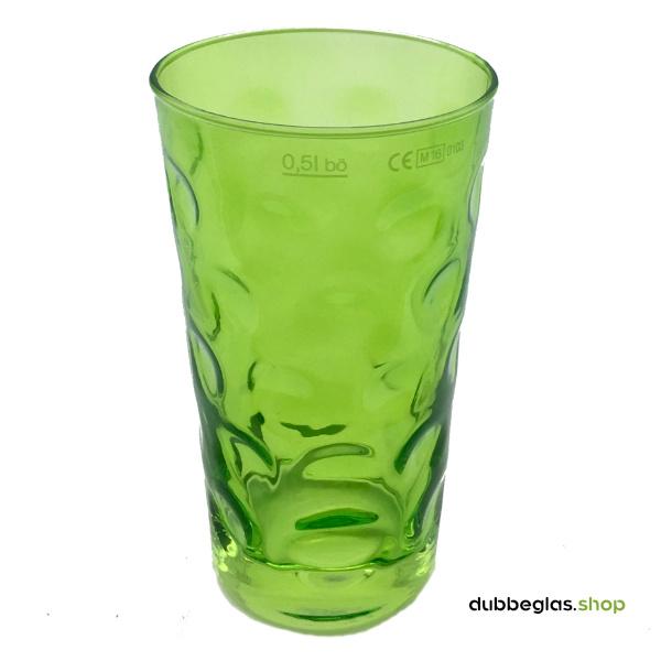 Grün farbiges Dubbeglas 0,5 l ganz gefärbt