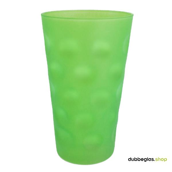 Grün matt farbiges Dubbeglas 0,5 l ganz gefärbt