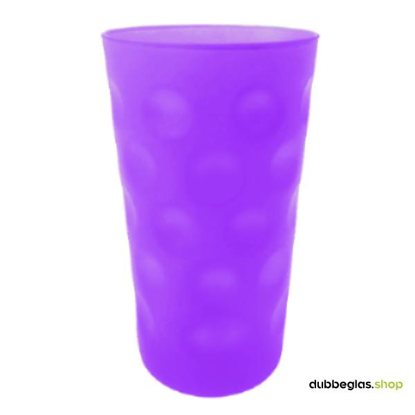 Lila matt farbiges Dubbeglas 0,5 l ganz gefärbt