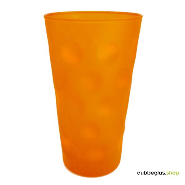 Orange matt farbiges Dubbeglas 0,5 l ganz gefärbt