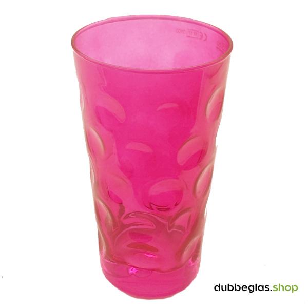 Pink farbiges Dubbeglas 0,5 l ganz gefärbt