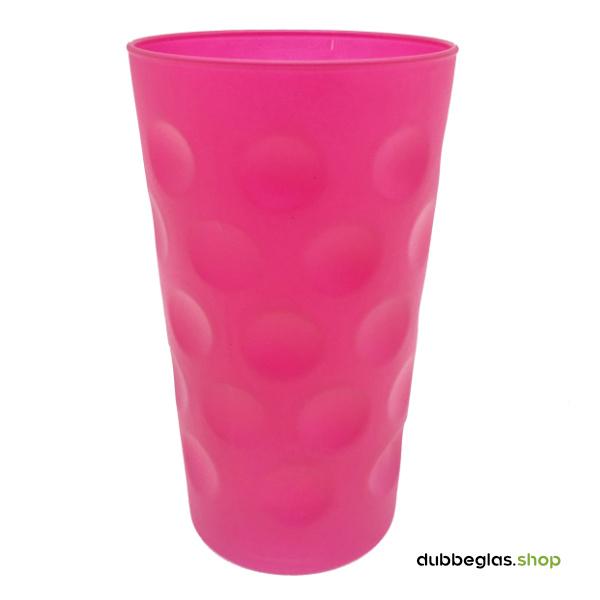 Pink matt farbiges Dubbeglas 0,5 l ganz gefärbt
