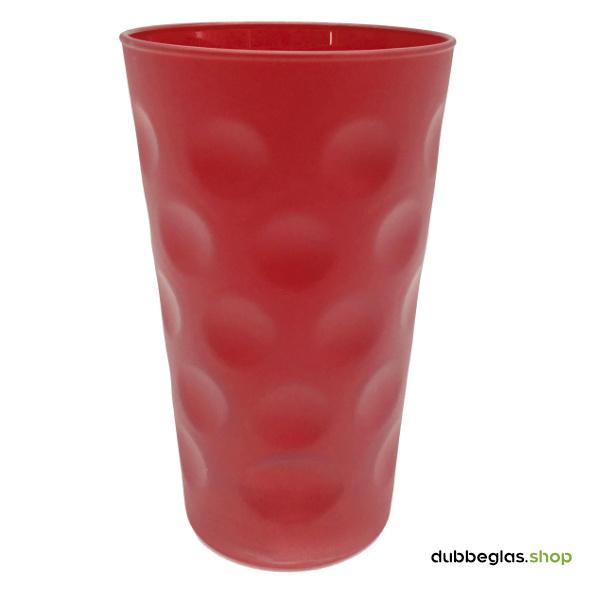 Rot matt farbiges Dubbeglas 0,5 l ganz gefärbt