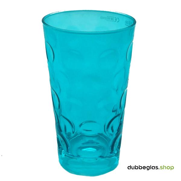 Türkis farbiges Dubbeglas 0,5 l ganz gefärbt