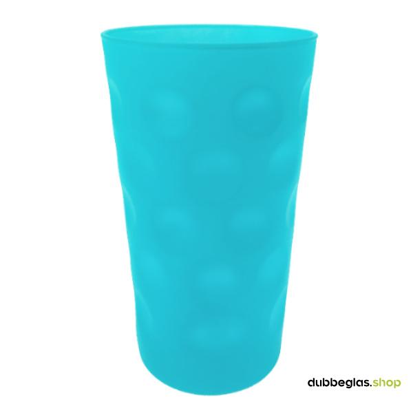Türkis matt farbiges Dubbeglas 0,5 l ganz gefärbt