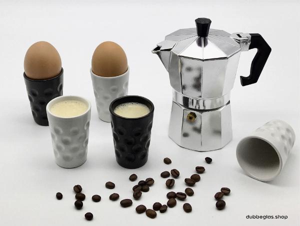 Dubbebecher als Dubbeglas Eierbecher oder für Espresso oder Schnaps