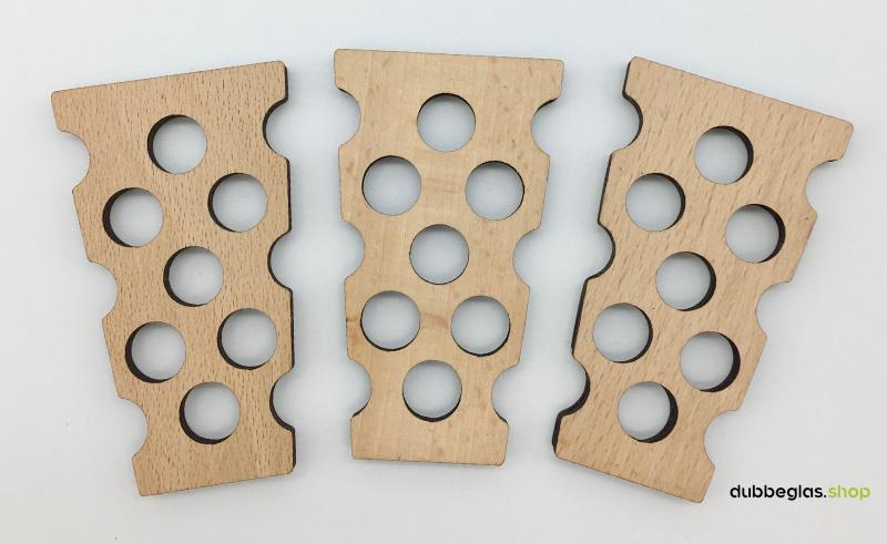 Dubbeglas Magnet und Kühlschrankmagnete, 3 Stück width=