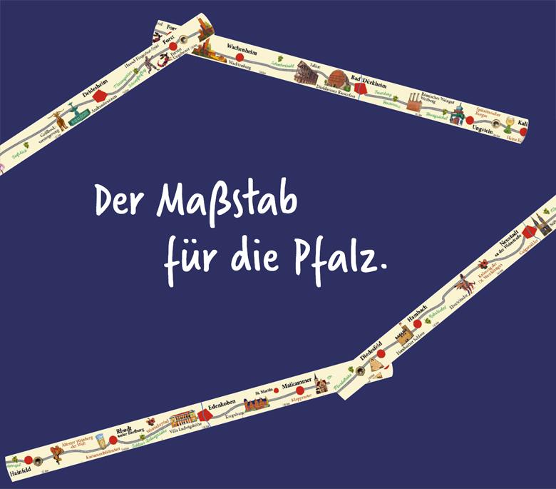 Weinstraßenmeter - Der Maßstab für die Pfalz