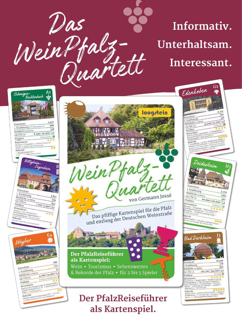 Weinpfalz Quartett Kartenspiel