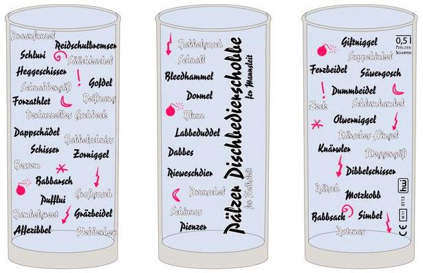Pfälzer Dischbedierschobbe Schoppenglas 0,5 l