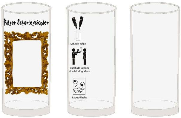 Schorlegesichter Schoppenglas 0,5 l
