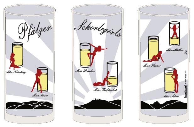 Pfälzer Schorlegirls Schoppenglas 0,5 l