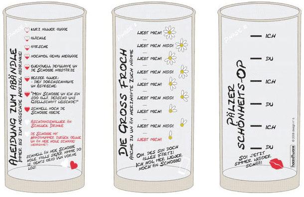 Pfälzer Flirtglas Schoppenglas 0,5 l