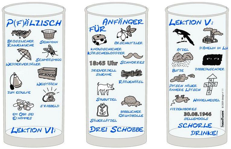Pfälzisch für Anfänger V - VI Schoppenglas 0,5 l
