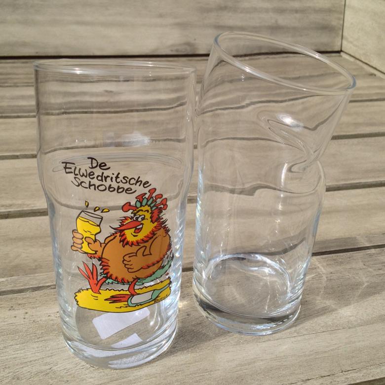 Elwedritsche Schobbe - Knickschobbe, Schoppenglas