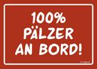 100% Pälzer an Board Aufkleber