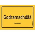 Godramstein - Godramschdää Aufkleber