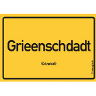 Grünstadt - Grieenschdadt Aufkleber