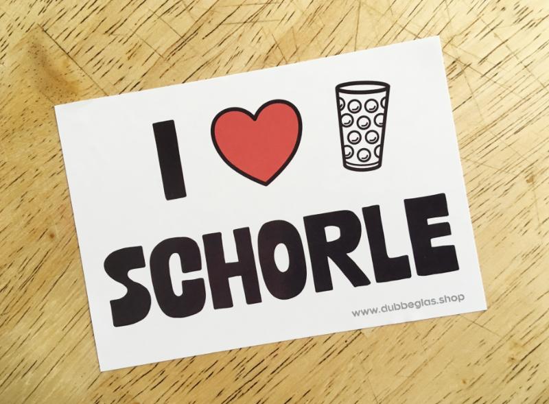I love Schorle & Dubbeglas Aufkleber