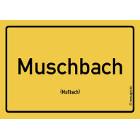 Mußbach - Muschbach Aufkleber