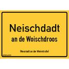 Neustadt an der Weinstraße - Neischdadt an de Woischdroos Aufkleber