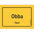 Oppau - Obba Aufkleber