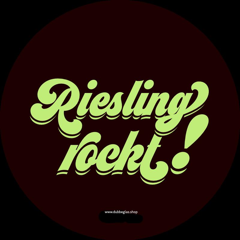 Riesling rockt! Aufkleber