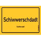Schifferstadt - Schiwwerschdadt Aufkleber