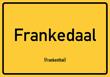 Frankenthal - Ortsschild Magnet