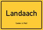 Landau in der Pfalz - Ortsschild Magnet