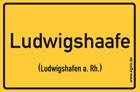 Ludwigshafen am Rhein - Ortsschild Magnet