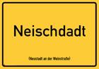Neustadt an der Weinstraße - Ortsschild Magnet