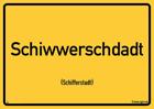 Schifferstadt - Ortsschild Magnet