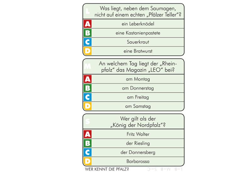 Wer kennt die Pfalz? 150 Fragen Quiz