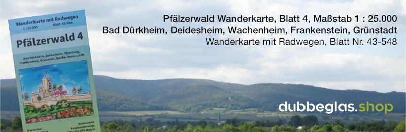 Pfälzerwald Wanderkarte für Bad Dürkheim, Deidesheim, Wachenheim und Grünstadt