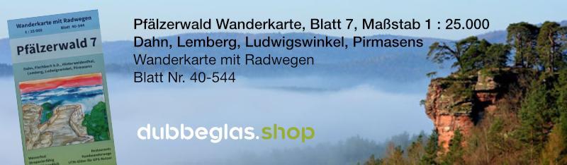 Pfälzerwald Wanderkarte für Dahn, Lemberg, Ludwigswinkel, Pirmasens